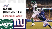 Jets vs. Giants Preseason Week 1 Highlights - NFL 2019