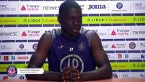 """""""Confiants pour cette première journée à Brest"""", la conférence de presse de Jean-Victor Makengo avant Brest/TFC"""