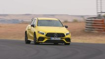 Mercedes-AMG A 45 S 4MATIC+ in Sun yellow Driving Video