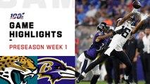 Jaguars vs. Ravens Preseason Week 1 Highlights - NFL 2019