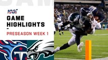 Titans vs. Eagles Preseason Week 1 Highlights - NFL 2019