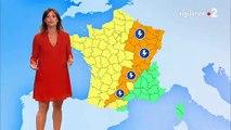 Regardez le retour surprise, peu avant 13h, de Tania Young à la météo de France 2 qu'elle avait quittée il y a trois ans - VIDEO