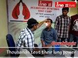 Thousands test their lung power