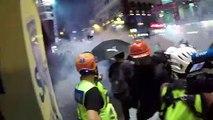 Freiwillige Sanitäter versorgen Demonstranten in Hongkong