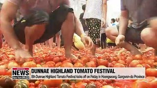8th Dunnae Highland Tomato Festival opens on Friday in Hoengseong, Gangwon-do Province