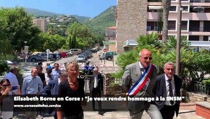 """Elisabeth Borne en Haute-Corse : """"Je veux rendre hommage à la SNSM"""""""