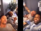 Kevin Hart & Dwayne 'The Rock' Johnson fighting in national best friend day Q&A, FUNNY !