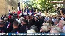 Vive émotion à Signes aux obsèques du maire Jean-Mathieu Michel