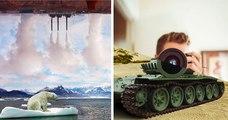 Cet artiste créé des montages pour montrer deux réalités opposées