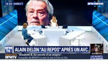 "Alain Delon ""au repos"" après un AVC"