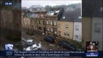 Les premières images des dégâts causes par la tornade qui s'est abattue en Meurthe-et-Moselle et au Luxembourg