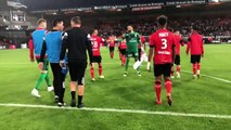 Fin de match victorieuse au Roudourou