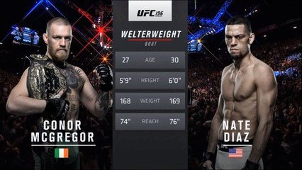 UFC 241 Free Fight: Nate Diaz vs Conor McGregor 1
