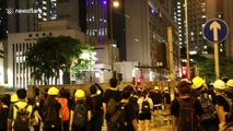 Hong Kong protest tactics speed up