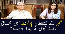 What Aitzan Ahsan says about Senate secret balloting, PMLN-PPP alliance?