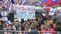 모스크바에서 4주째 공정선거 촉구 시위...수만 명 참여 / YTN
