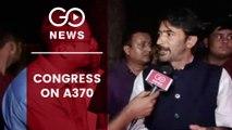 J&K Congress President Ghulam Ahmad Mir Voices Concern