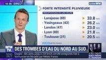 À Lyon, Toulouse ou Larajasse, 10 jours de pluies sont tombés brutalement en une heure