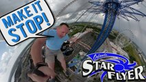 """Screaming """"MAKE IT STOP"""" On The World's Tallest Swing Ride -  ORLANDO STAR FLYER"""