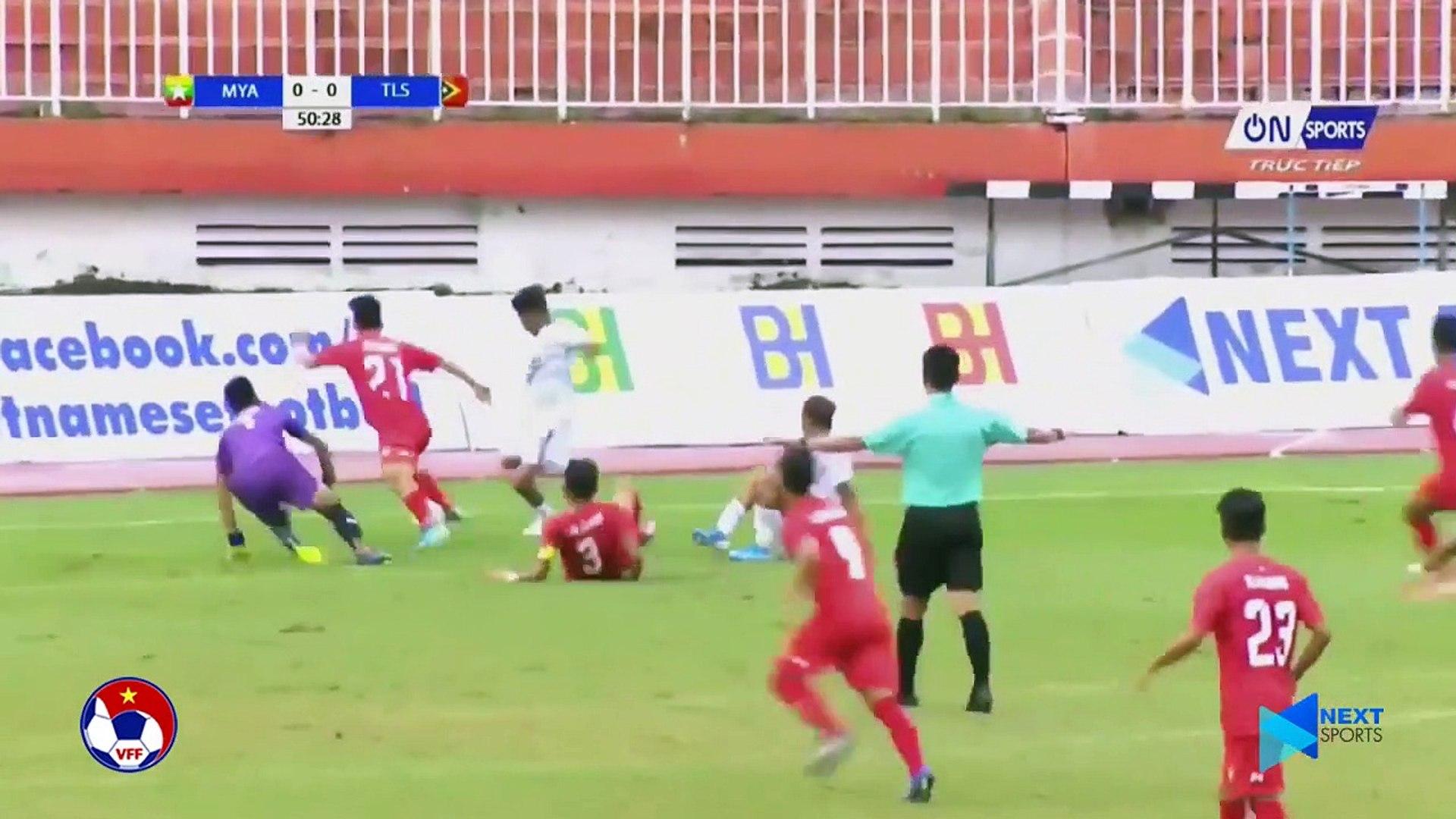 Đánh bại U18 Timor-Leste, U18 Myanmar vững vàng ở vị trí thứ 2 bảng A | VFF Channel