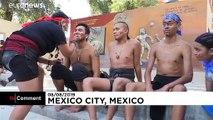 Los mexicanos mantienen vivo un antiguo juego prehispánico