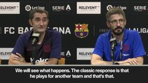 "(Subtitled) Valverde: ""Let's see what happens with Neymar"""