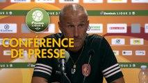 Conférence de presse Rodez Aveyron Football - Paris FC (2-1) : Laurent PEYRELADE (RAF) - Mecha BAZDAREVIC (PFC) - 2019/2020