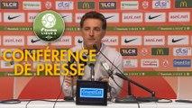 Conférence de presse AS Nancy Lorraine - FC Lorient (1-1) : Jean-Louis GARCIA (ASNL) - Christophe PELISSIER (FCL) - 2019/2020