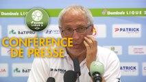 Conférence de presse Clermont Foot - RC Lens (1-1) : Pascal GASTIEN (CF63) - Philippe  MONTANIER (RCL) - 2019/2020