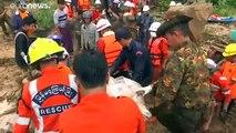 Au moins 41 morts dans un glissement de terrain en Birmanie