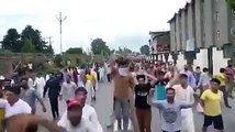 protests in kashmir but indian govt denies Article 370