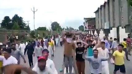 protests in kashmir but indian govt denies Article 370