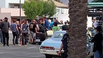 Quentin Tarantino's Once Upon A Time In Hollywood - Burbank Location Shoot - Brad Pitt