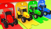 Learn Colors Street Vehicle Tractor Change Colors for Kids Nursery rhymes