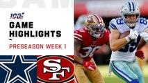 Cowboys vs. 49ers Preseason Week 1 Highlights _ NFL 2019
