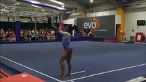 Simone Biles shows the hardest floor routine in the world