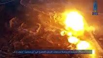 تفجير سيارة مففخة بمواقع ميليشيا أسد في تل سكيك جنوب إدلب