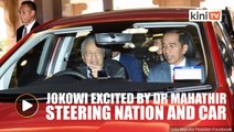 Jokowi shares excitement of being driven around by Dr M