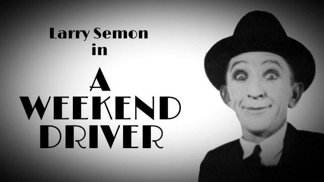 """Larry Semon in """"A Weakend Driver"""" (1922)"""
