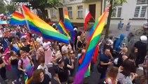 Gay pride parade held in Polish city of Plock