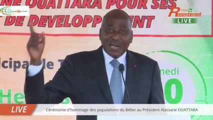 Depuis Toumodi, Amadou Gon règle ses comptes avec l'opposition ivoirienne