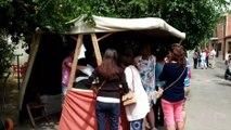 El XII Mercado de oficios de Alaejos atrae a múltipes visitantes
