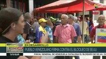 Recolectan firmas en Venezuela en contra del bloqueo económico de EEUU
