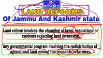 Land Reforms in Jammu and Kashmir  jkssb  jkpsc  upsc  patwari  Naib Tehsildar exam