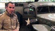 Christophe Cavaleau présente son Dodge cadet 64, une ambulance américaine datant de la Seconde Guerre Mondiale
