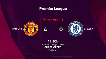 Match report between Man. Utd and Chelsea Round 1 Premier League