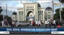 Puncak Penyembelihan Kurban di Masjid Raya Al Mas'ud Medan pada Hari Selasa