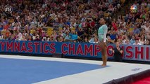 Simone Biles Showcases Her Technique In Her Floor Routine  Summer Champions Series