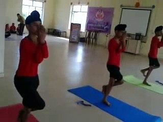 Students Performing Asana  : YogExpo 2019
