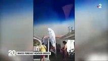 Grèce: Regardez les images des touristes d'un camping surpris par un incendie qui a touché le sud du pays - VIDEO